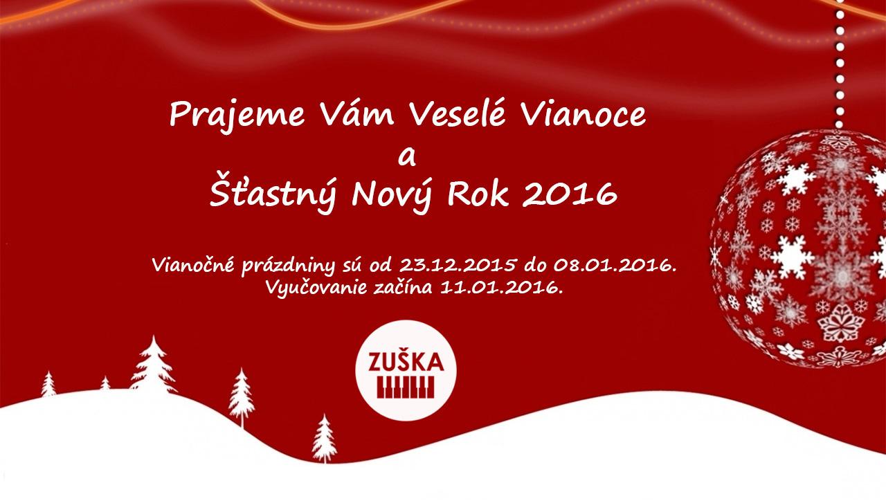 Veselé Vianoce a Šťastný Nový Rok 2016