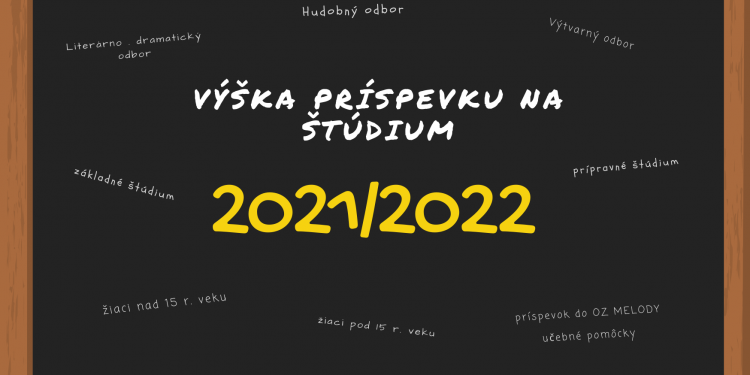 Školné v školskom roku 2021/2022